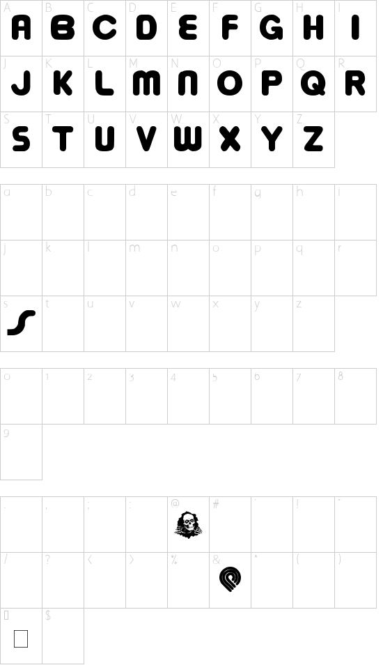 bowellberalta font character map