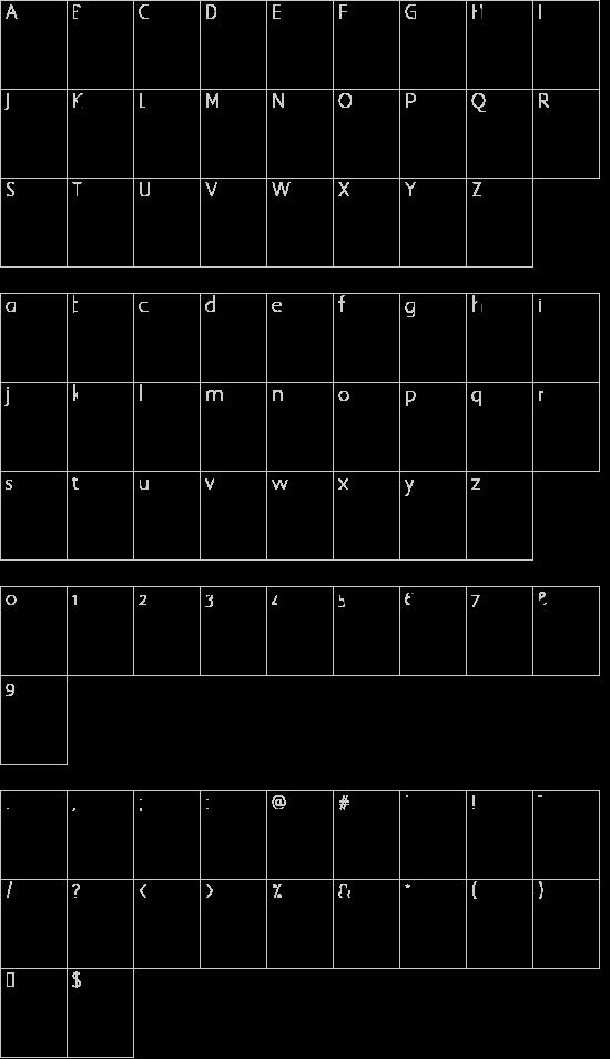 yum font character map