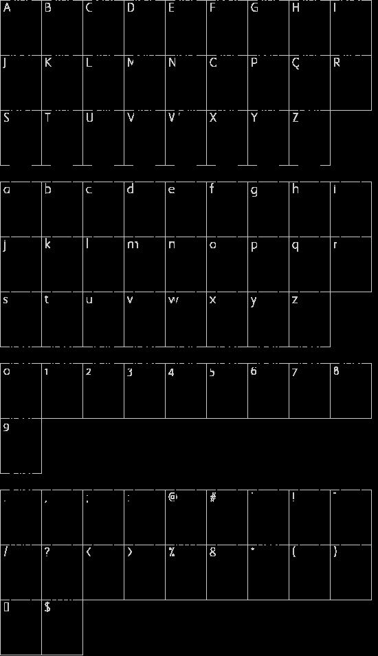 CIA Code 39 Medium Text font character map