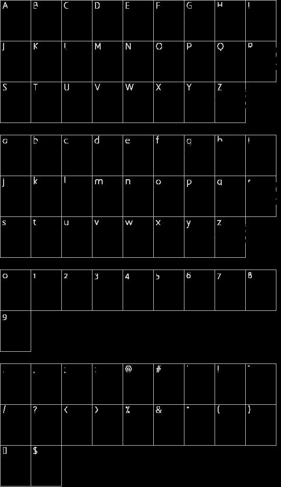 logocarsbats tfb font character map