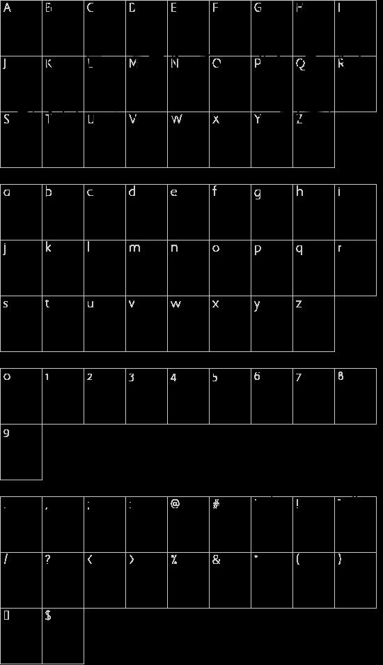 WS Serif font character map