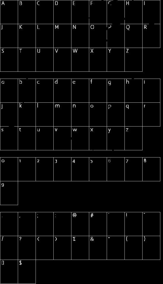 gotische minuskel 1269 pw font character map