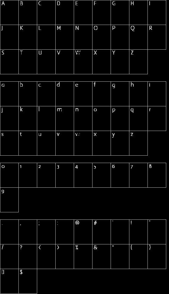 Extranger sol tfb font character map