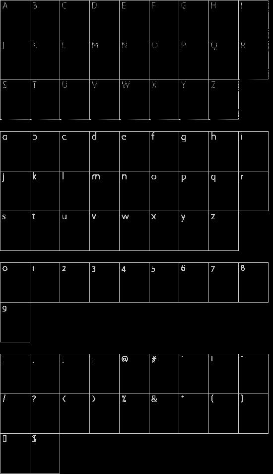 QuaNauticale_Initials_No1 font character map