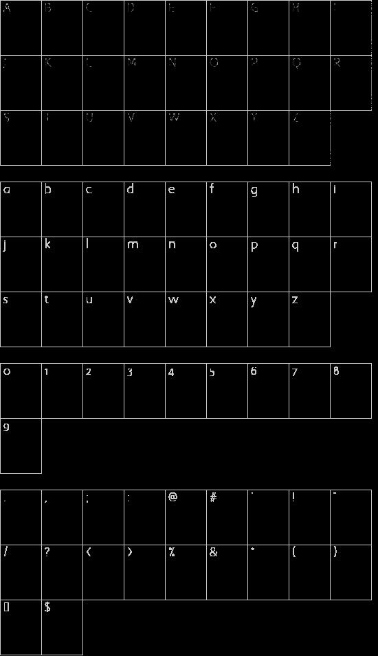 QuaNauticale_Initials_No2 font character map