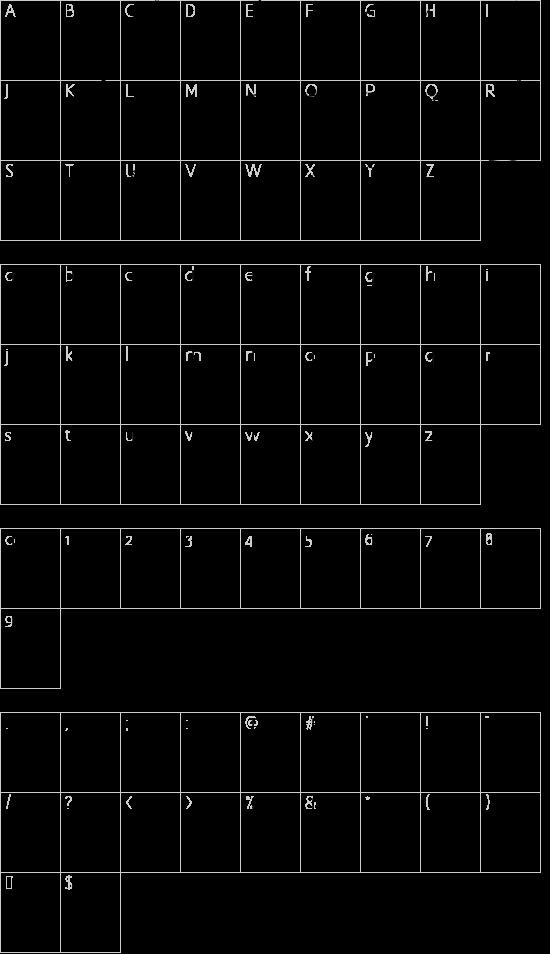 Good Vibers font character map