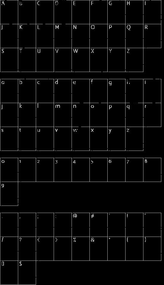 Surf Bat (Windsurfing Dingbats) font character map