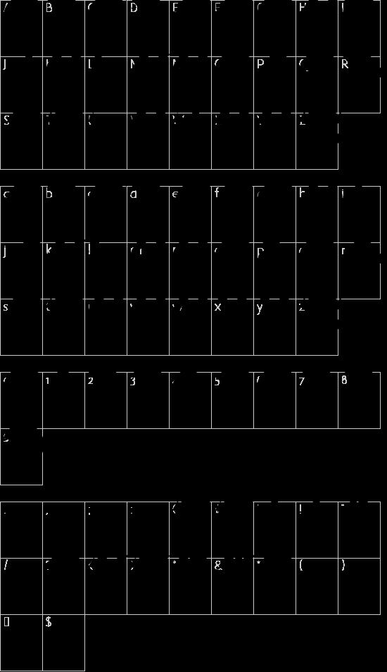 Anillo font character map