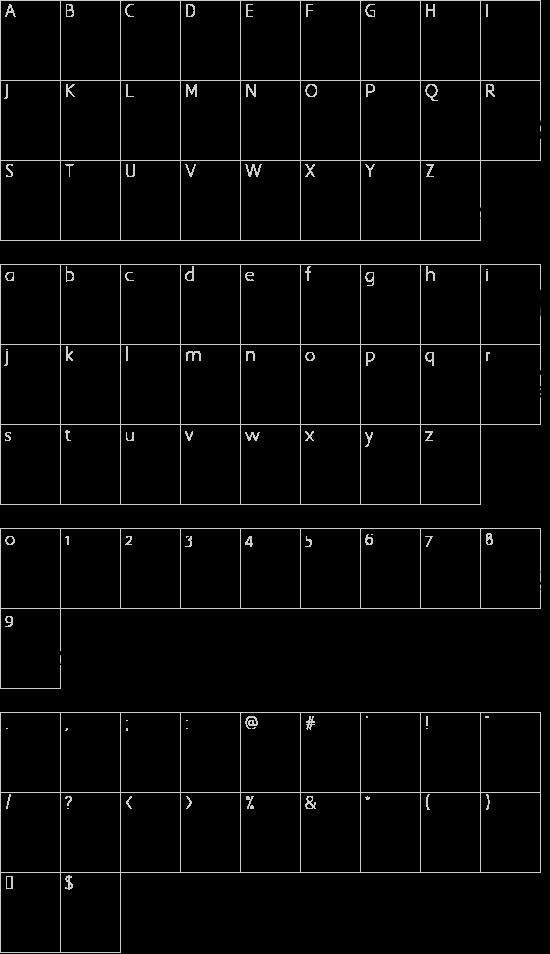 Mcs Swer Al_Quran 3 font character map