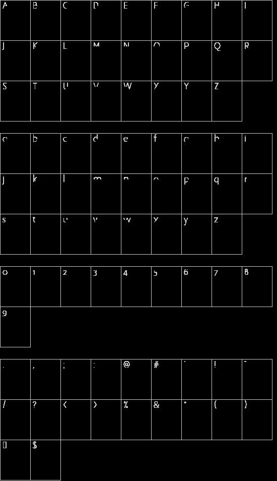 DSProgress SemiBold font character map