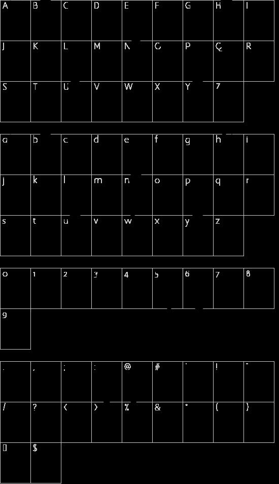 LAOMAY_2 CHAREUNSILP font character map