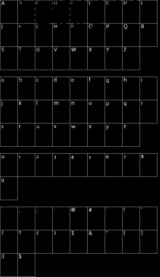 Mushroom Kingdom NBP font character map