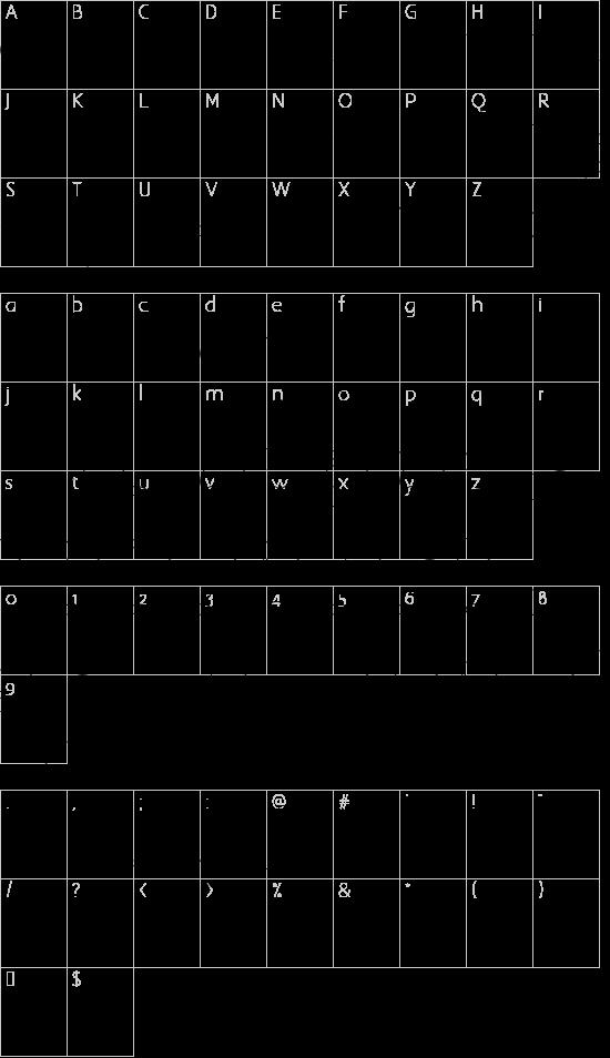 Julieta Ornaments font character map