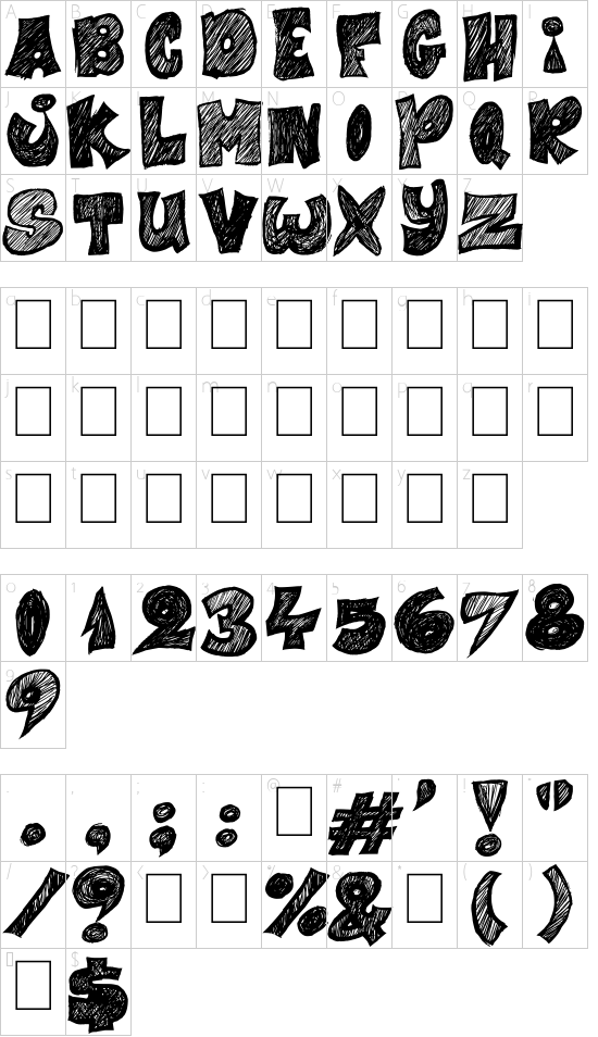 Half Price 4 You font character map