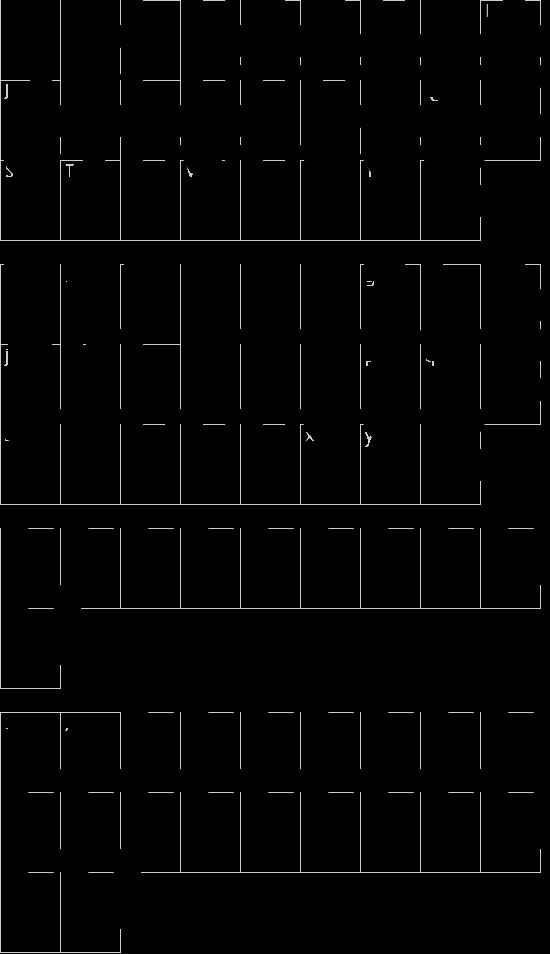 5Zonex Regular font character map