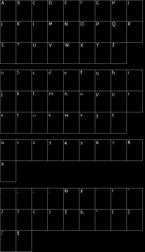 Carnaval de Mai font character map
