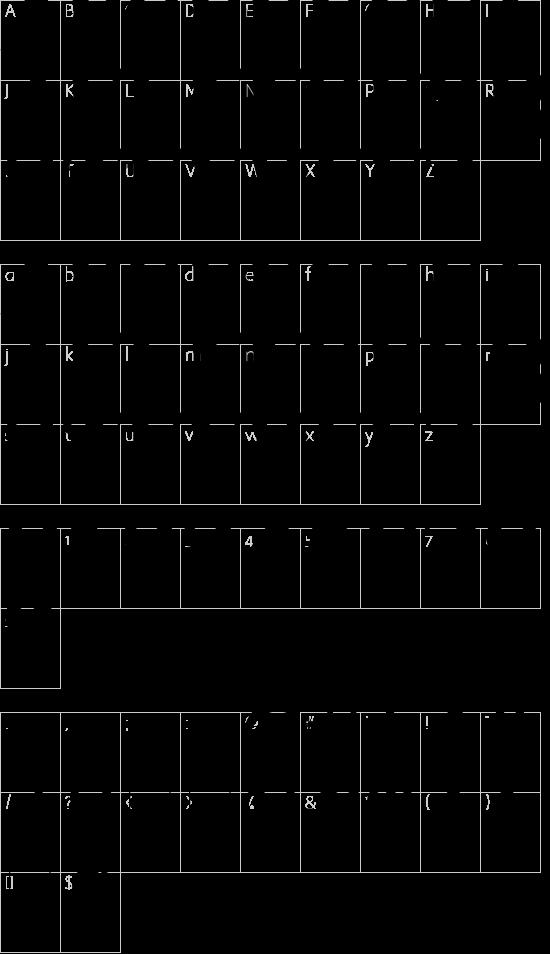 CabbagetownSmCaps font character map