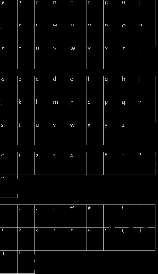 Public Market font character map