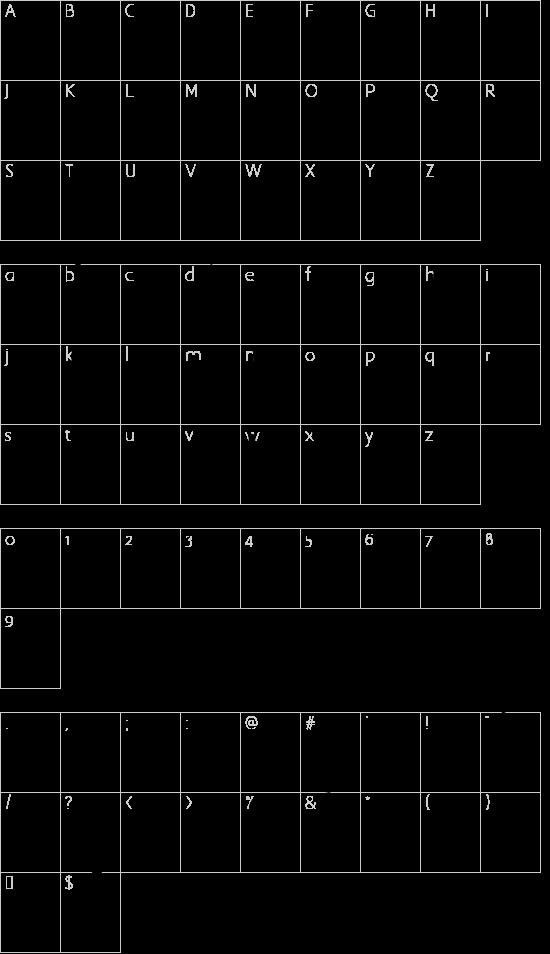 summer soul script font character map