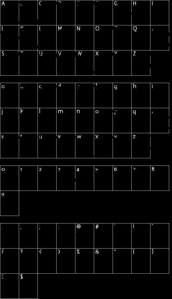 Angular Anarchy font character map