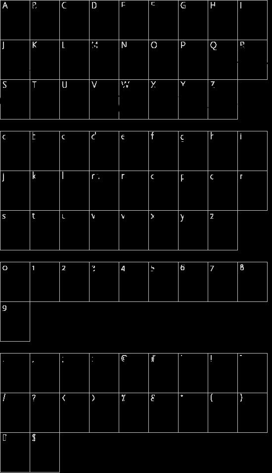 Next Custom font character map